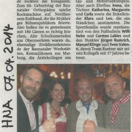 """1984 – """"ROCKMACHINE wird 30"""" – 2014 / HNA 7.04.2014"""