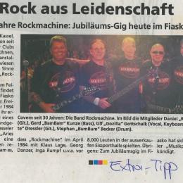 """1984 – """"ROCKMACHINE wird 30"""" – 2014 / EXTRA-TIP 30.04.2014"""